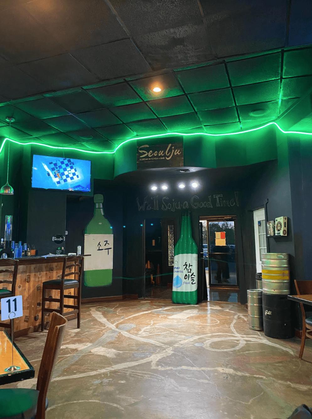 Interior of Seoulju Korean Kitchen and Bar.