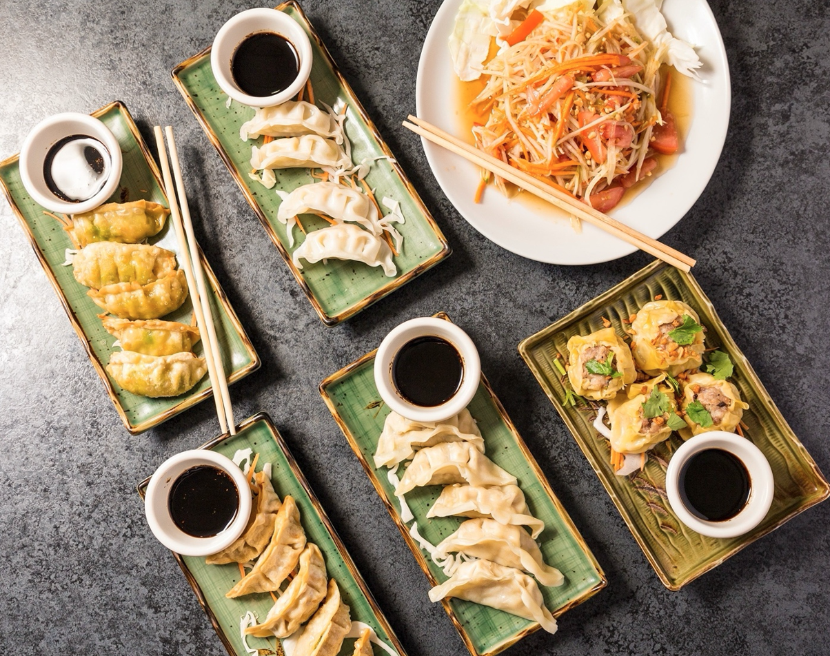 A look at some of the gyoza Chef Hong Food trailer offers.