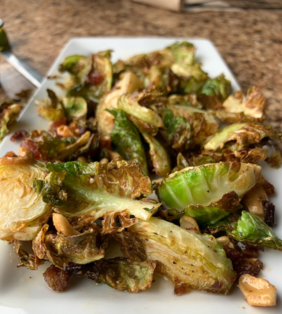 Crispy brussel sprouts from Boathouse, a restaurant offering food in Salida.
